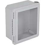 STI EF141206-W, Fiberglass Enclosure, Windowed Hinged Door - 14.72-in H x 12.72-in W x 6.06-in D