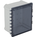 STI EP121007-T, Polycarbonate Enclosure, Tinted Hinged Door - 12-in H x 10-in W x 7-in D