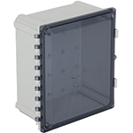 STI EP141207-T, Polycarbonate Enclosure, Tinted Hinged Door - 14-in H x 12-in W x 7-in D