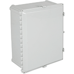 STI EP161409-O, Polycarbonate Enclosure, Opaque Hinged Door - 16-in H x 14-in W x 9-in D