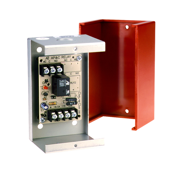 Multi Voltage Control Relay 10a Spdt 1 Position Red Encl