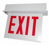 Orbit CESRE-W-1-EB-E-N Chicago Approved Edge-Lit Recessed Mount Led Exit Sign