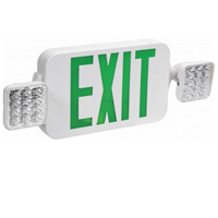 Orbit EECLM-LED-W-G Micro Led Emergency Light/Exit Sign Combination Unit With Battery Back-Up