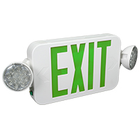Orbit EECLMS-W-G Micro Led Emergency Light/Exit Sign Combo Unit With Battery Back-Up