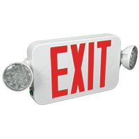 Orbit EECLMS-W-R Micro Led Emergency Light/Exit Sign Combo Unit With Battery Back-Up