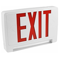 Orbit EECLP-LED-W-1-R Led Tube Emergency Light/Exit Sign Combo Unit With Battery Back-Up