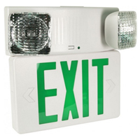 Orbit ESBL2N-W-G Emergency Light/ Led Exit Sign Combination Unit With Battery Back-Up