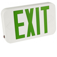 Orbit ESBLM-W-G Micro Thermoplastic Led Exit Sign With Battery Back-Up