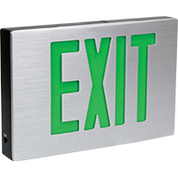 Orbit ESLA-B-A-2-G-EB Cast Aluminum Led Exit Sign