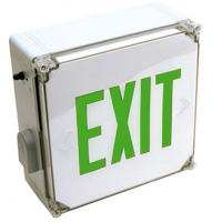 Orbit ESLN4-G-EB Wet Location Led Exit Sign