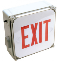 Orbit ESLN4-R-EB Wet Location Led Exit Sign