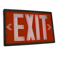 Orbit ESN-B-R-1-10 Self-Illuminating Tritium (Nuclear) Exit Sign