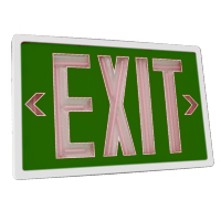 Orbit ESN-W-G-1-10 Self-Illuminating Tritium (Nuclear) Exit Sign