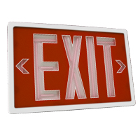 Orbit ESN-W-R-1-10 Self-Illuminating Tritium (Nuclear) Exit Sign