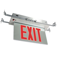 Orbit ESRE-A-1-R-EB Recessed Mount Edge-Lit Led Exit Sign