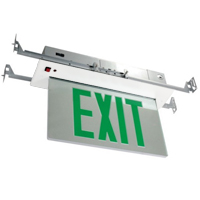 Orbit ESRE-W-1-G-EB Recessed Mount Edge-Lit Led Exit Sign