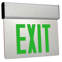 Orbit ESSE-A-1-R-EB Surface Mount Edge-Lit Led Exit Sign