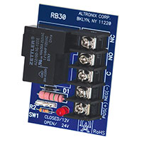Altronix RB30, Heavy Duty Load Switching Relay Module - 12VDC or 24VDC operation