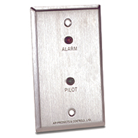 Air Products & Controls MS-RA/P, Single Gang with Alarm and Pilot LEDs