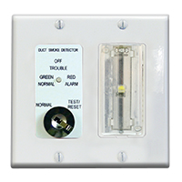 Air Products & Controls MSR-50RKAV/W/C keyed Test and Reset w/AV, White Double Gang Plate