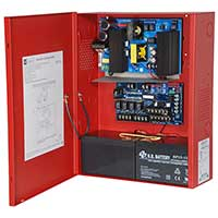 Altronix AL802ULADA, NAC Power Extender, 2 Class A or 4 Class B Outputs, 24VDC @ 8A, 115VAC, Red BC400 Enclosure