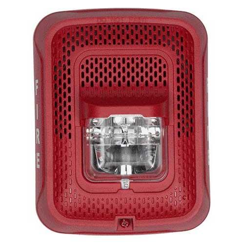Speaker Wire Gauge >> System Sensor SPSRL L-Series Red Wall Speaker