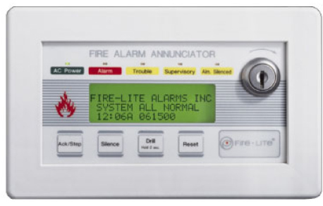 Fire Lite Lcd 80 Fire Annunciator Compact Backlit Lcd
