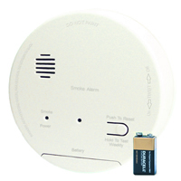 Gentex GN-S1209, 120VAC Smoke Alarm with 9V Backup, DualLink