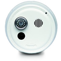 Gentex 9123TF, P/E Smoke Detector, 120VAC w/Temporal 3, Integral 135-DEG(F) Heat, Contacts, 9V