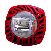 Gentex SSPK24WLPR, 24VDC Speaker/Strobe, Selectable Candela, Wall-Mount, Red