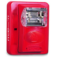 Gentex GES24-177WR, 24VDC Strobe, Fixed 177 Candela, Wall-Mount, Red