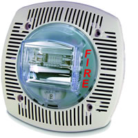 Gentex SSPK24-15/75WLPW, 24VDC Speaker/Strobe, Fixed 15/75 Candela, Wall-Mount, White
