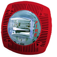 Gentex SSPK24-15/75WLPR, 24VDC Speaker/Strobe, Fixed 15/75 Candela, Wall-Mount, Red