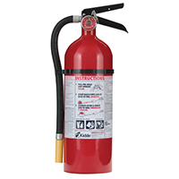 Kidde KN PRO5MP, Fire Extinguisher, 3-A, 40-B:C, 5 lbs., Wall Hook, Rechargeable