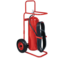 Kidde KN ProPlus50MP, Wheeled Fire Extinguisher, 20-A, 160-B:C, 50 lbs., ABC, Rechargeable