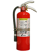 Kidde KN ProPlus5MP, Fire Extinguisher, 3-A, 40-B:C, 5 lbs., Wall Hook, Rechargeable