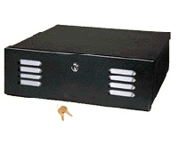 Mier BW-201-120 DVR/VCR Lock-box with Fan, 16x5x16