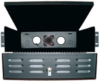 Mier BW-235 DVR/VCR Lock-box with Fan (Rack Mount), 19x5x24