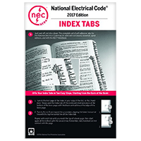NFPA 70: National Electrical Code (NEC) or Handbook Tabs, 2017 Edition