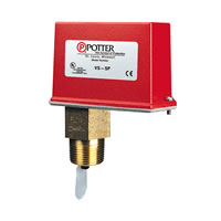 Potter VS-SP, Vane-Type Waterflow Switch for 1, 1-1/4, 1-1/2, 2-inch Plastic, Copper, Iron Pipe
