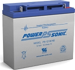 Power-Sonic 12V, 18 AH SLA Battery, Bolt-On Terminals