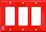 Space Age IGP3R, Infinity Gang Plate, 3 Gang, Red