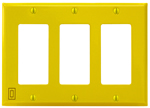 Space Age IGP3Y, Infinity Gang Plate, 3 Gang, Yellow