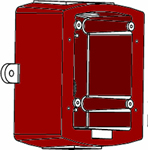 System Sensor MWBB, Metal Weatherproof Backbox, Wall Mount, Red