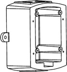 System Sensor MWBBW, Metal Weatherproof Backbox, Wall Mount, White