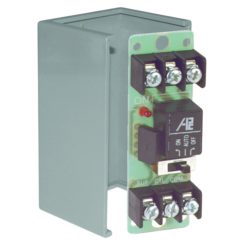 Space Age SSU MR-601/C, Multi-Voltage Series Relay w/Manual Override, 7-10A, SPDT, 1 Position