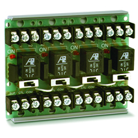 Space Age SSU MR-604/T, Multi-Voltage Series Relay w/Manual Override, 7-10A, SPDT, 4 Position