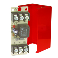 Space Age SSU MR-801/C/R, Multi-Voltage Series Relay, 10A, SPDT, 1 Position, Red Enclosure