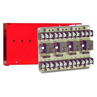 Space Age SSU MR-804/C/R, Multi-Voltage Series Relay, 10A, SPDT, 4 Position, Red Enclosure