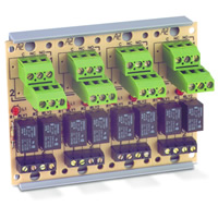 Space Age SSU MR-824/T, Compact Form Relay, 2A, Dual SPDT, 4 Position, Track-Mount